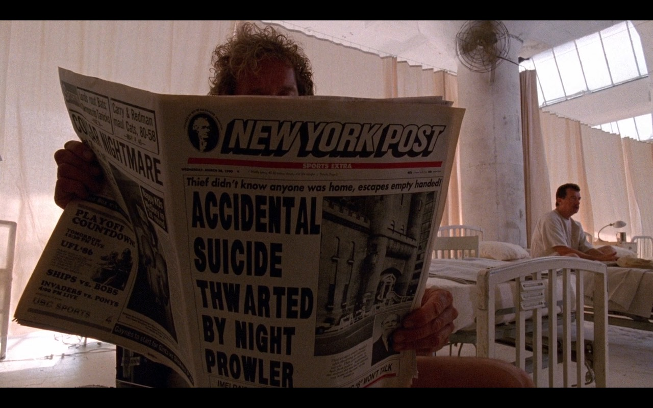 New York Post Newspaper - The Fisher King (1991) - Movie Product Placement