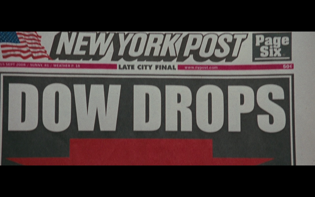 New York Post Newspapers – Wall Street: Money Never Sleeps (2010) Movie Product Placement