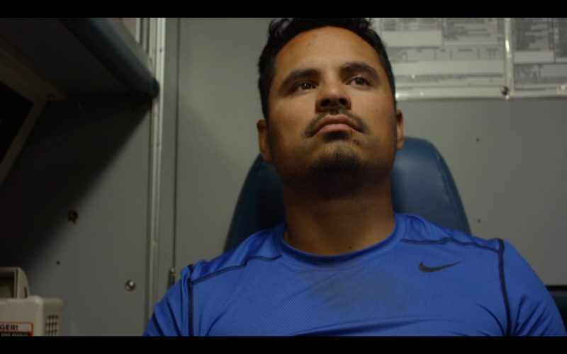 Nike Blue Men's Tee – CHIPS (2017) Movie Product Placement