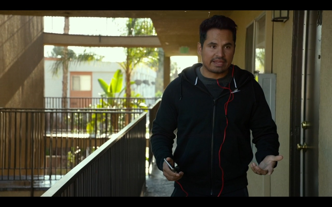 Nike Men's Black Hoodie – CHIPS (2017) Movie Product Placement