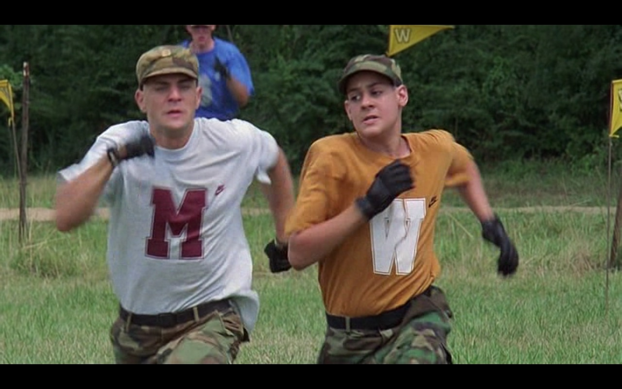 Nike T-Shirts - Major Payne (1995) Movie Product Placement