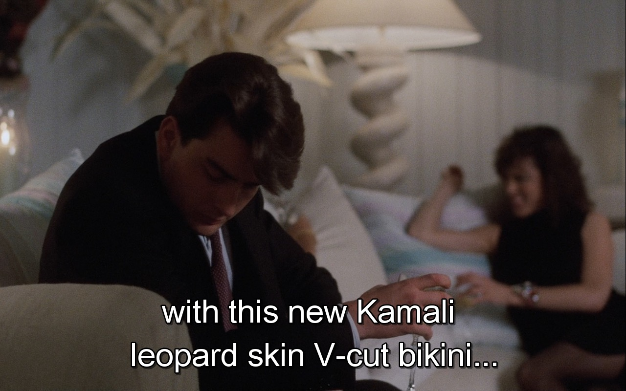 Norma Kamali Bikini – Wall Street (1987) Movie Product Placement