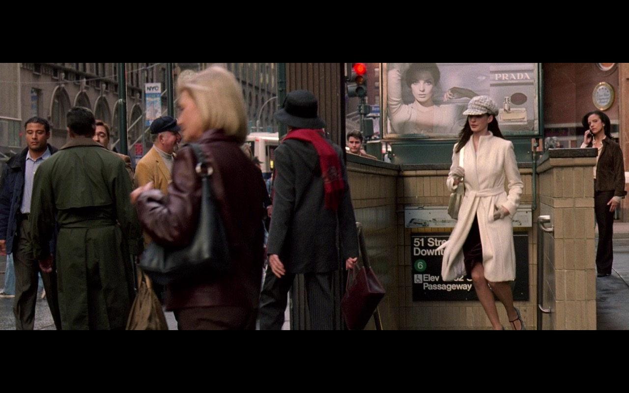 Prada Fragrance Outdoor Advertising – The Devil Wears Prada (2006) - Movie Product Placement