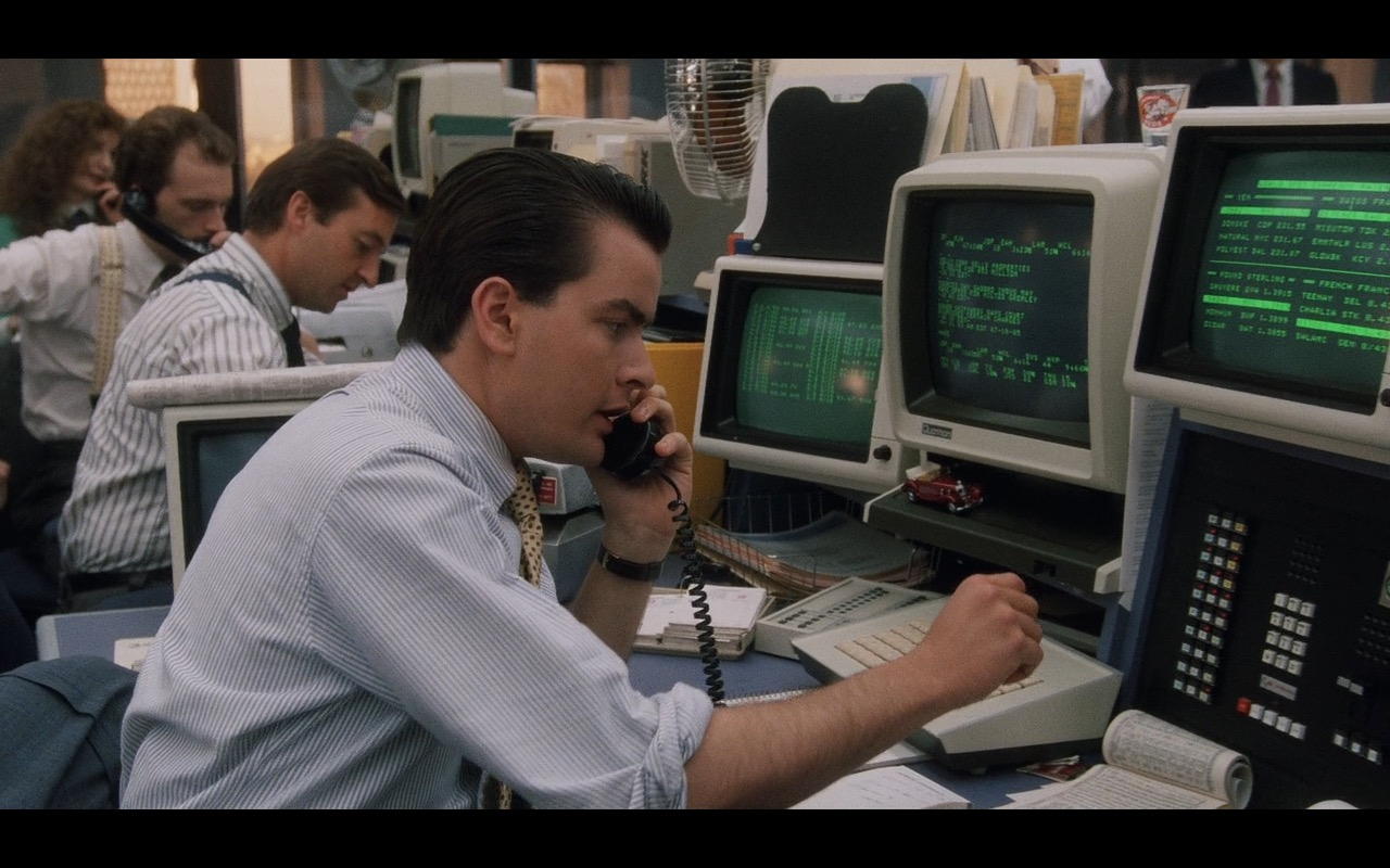 Quotron Electronic Screens – Wall Street (1987) Movie Product Placement