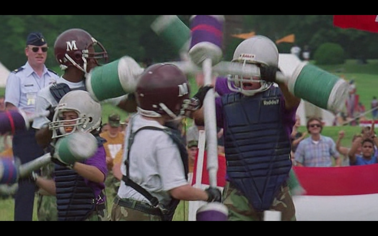 Riddell sports equipment for American football - Major Payne (1995) Movie Product Placement