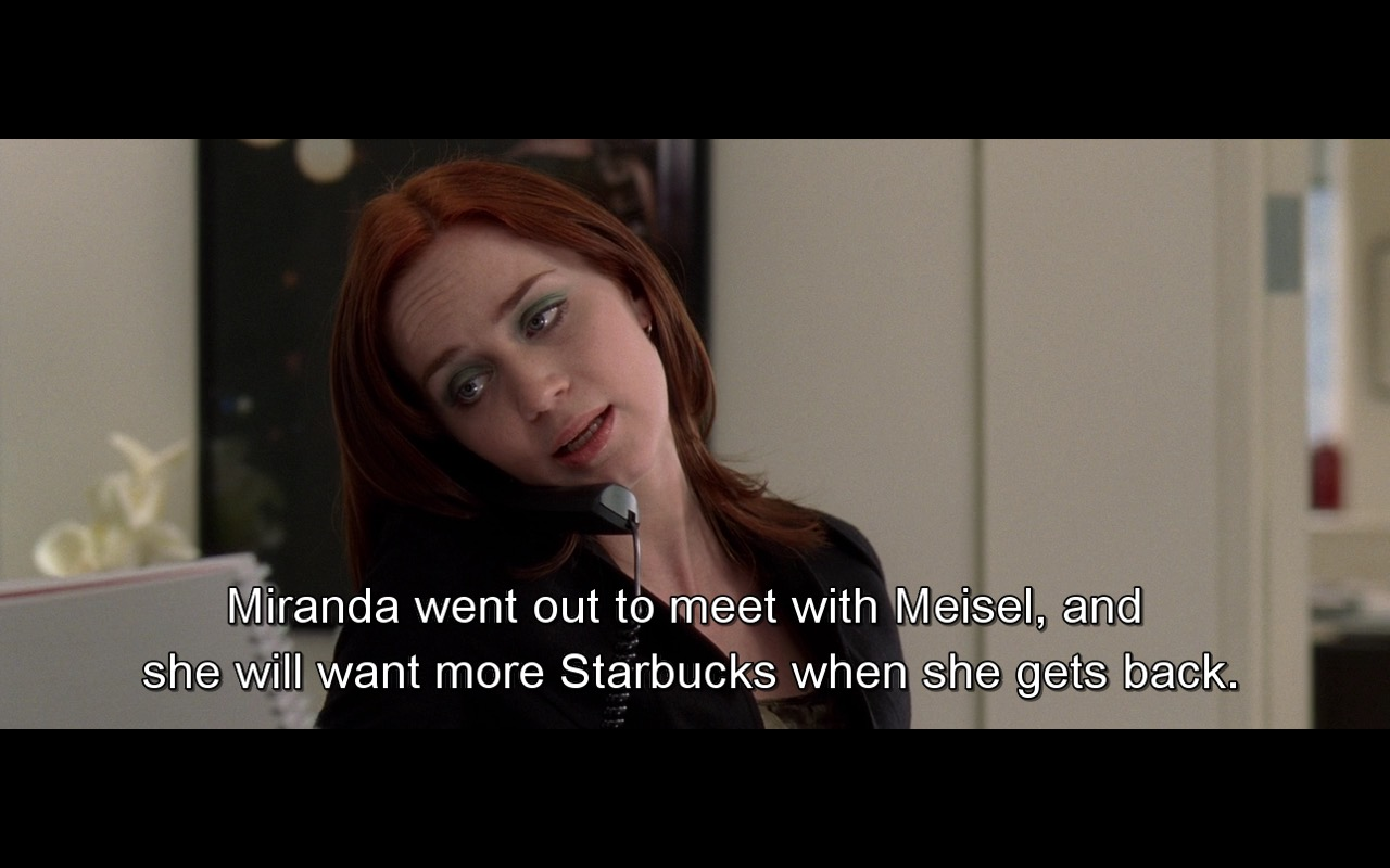 Steven Meisel And Starbucks – The Devil Wears Prada (2006) Movie Product Placement