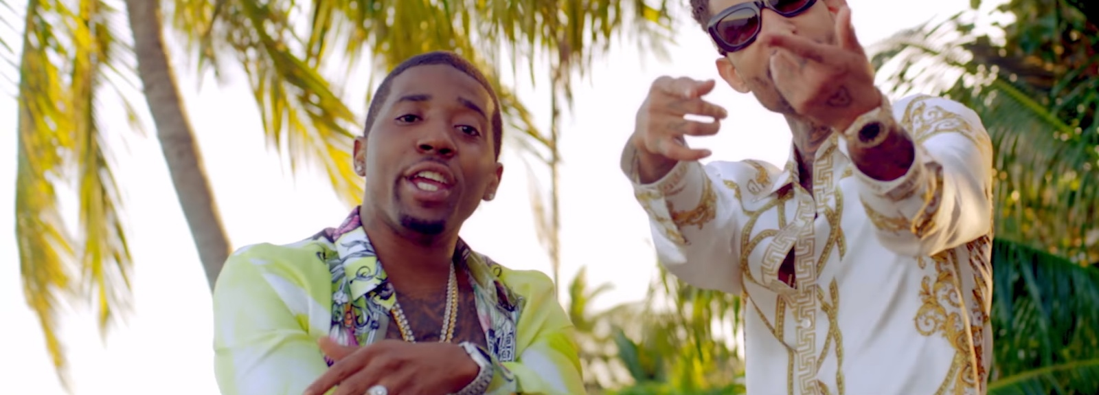 Versace Shirt And Versus Versace Sunglasses - YFN Lucci - Everyday We Lit Official Music Video Product Placement