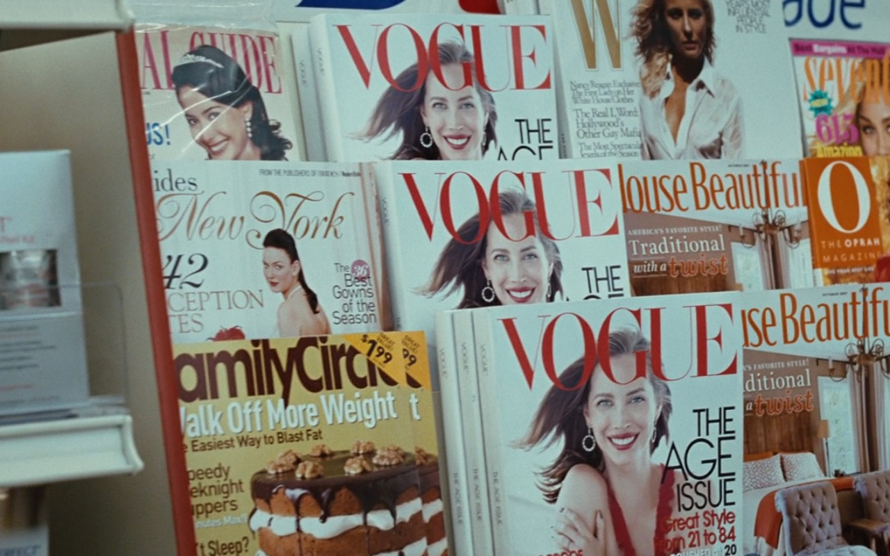 Vogue, House Beautiful, W Magazine, Seventeen, O, The Oprah Magazine and Family Circle magazines - Sex and the City (2008) Movie Product Placement