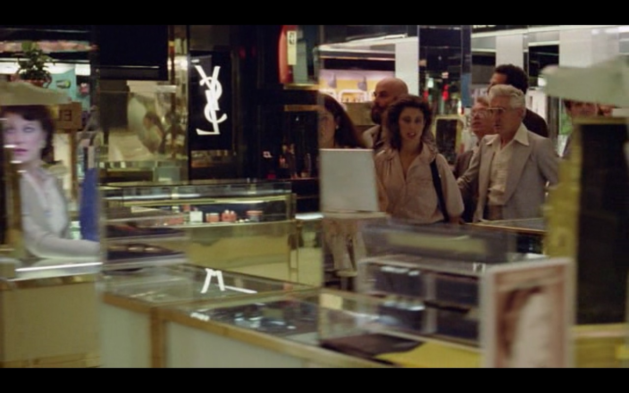 YSL Logo – Moscow on the Hudson (1984) Movie Product Placement