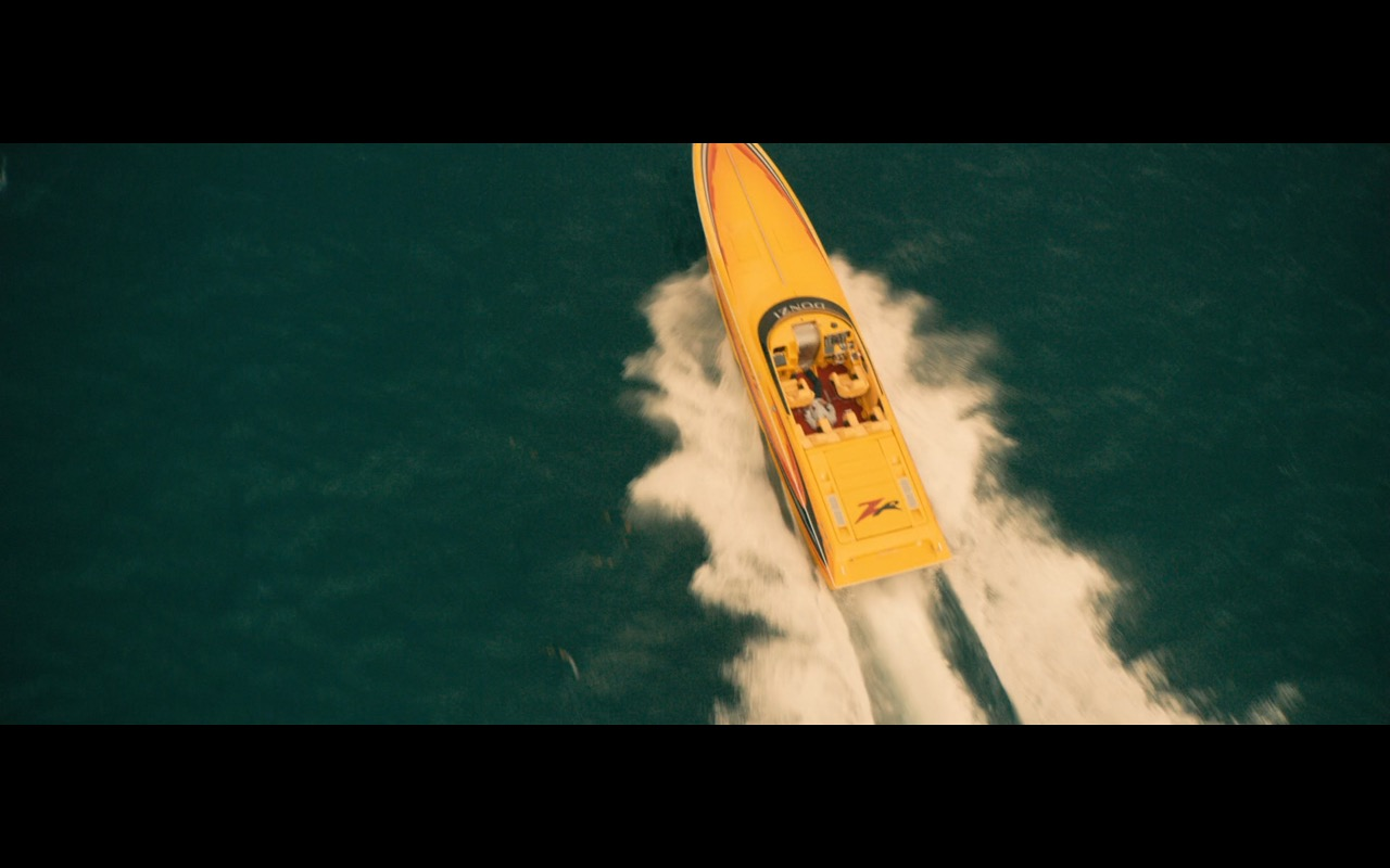 Yellow Donzi ZR Boat – Extortion (2017) Movie Product Placement