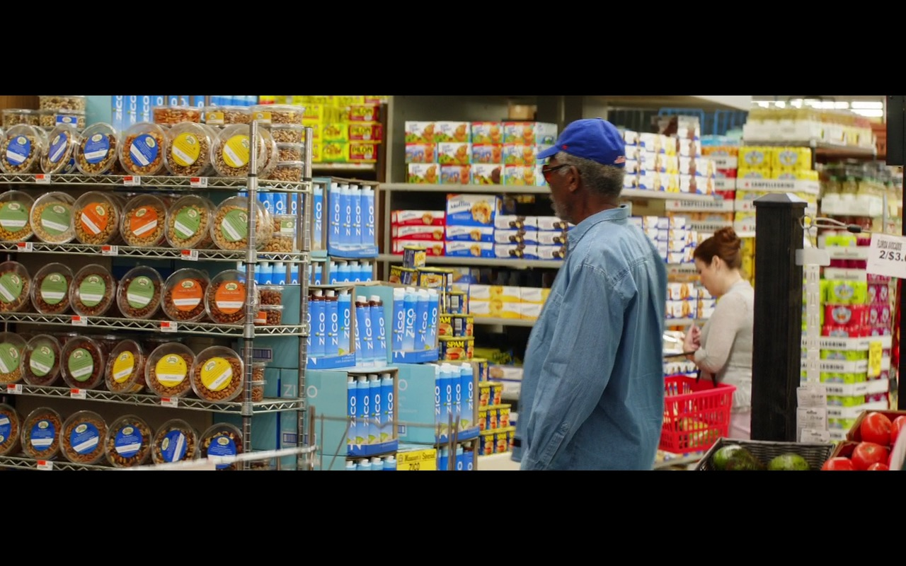 Zico Coconut Water & Spam Burgers – Going in Style (2017) Movie Product Placement