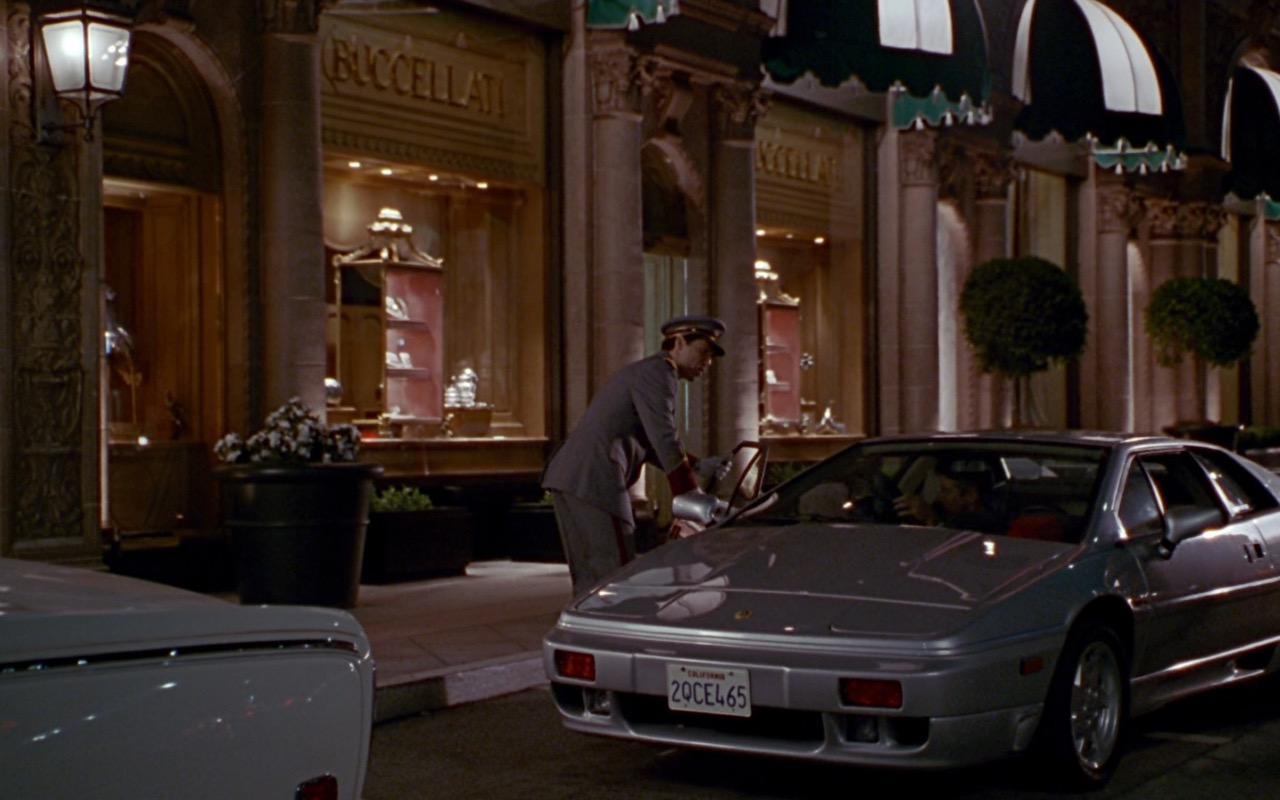 Buccellati Jewellery Store and Lotus Esprit - Pretty Woman (1990) Movie Product Placement