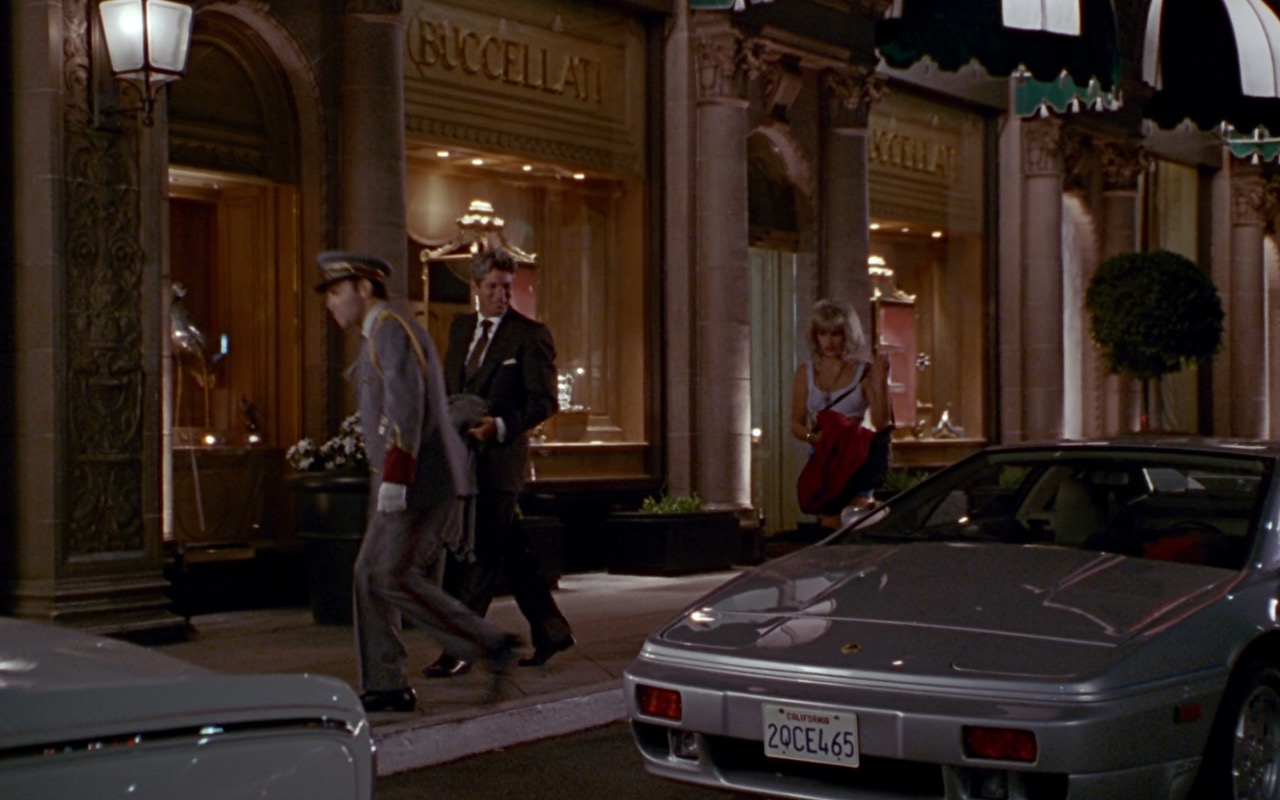 Buccellati Jewellery Store and Lotus Esprit - Pretty Woman (1990) - Movie Product Placement