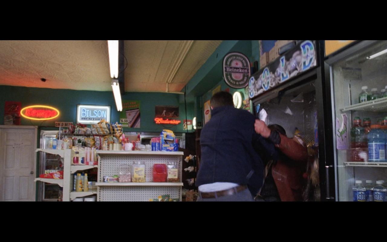 Budweiser, Heineken Beer Signs and Deer Park Water – The Departed (2006) Movie Product Placement