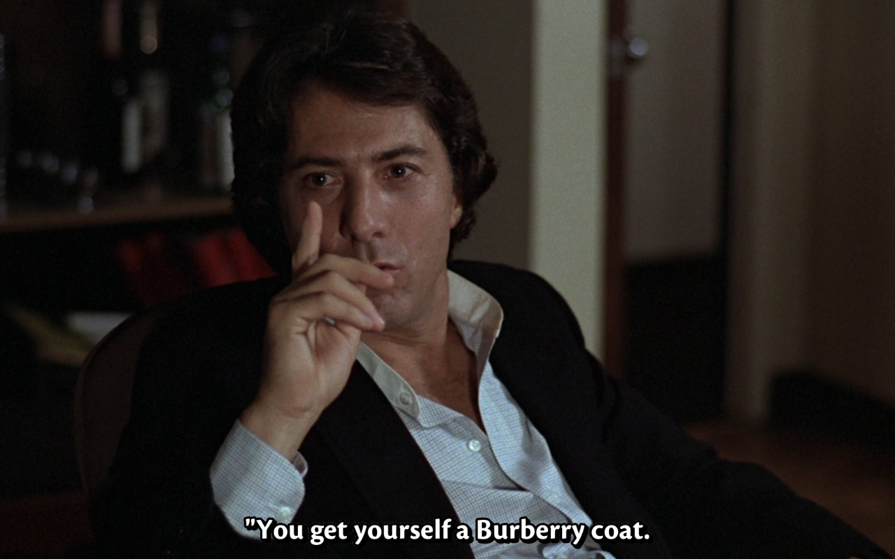 Burberry Men's Coat – Kramer vs. Kramer (1979) Movie Product Placement