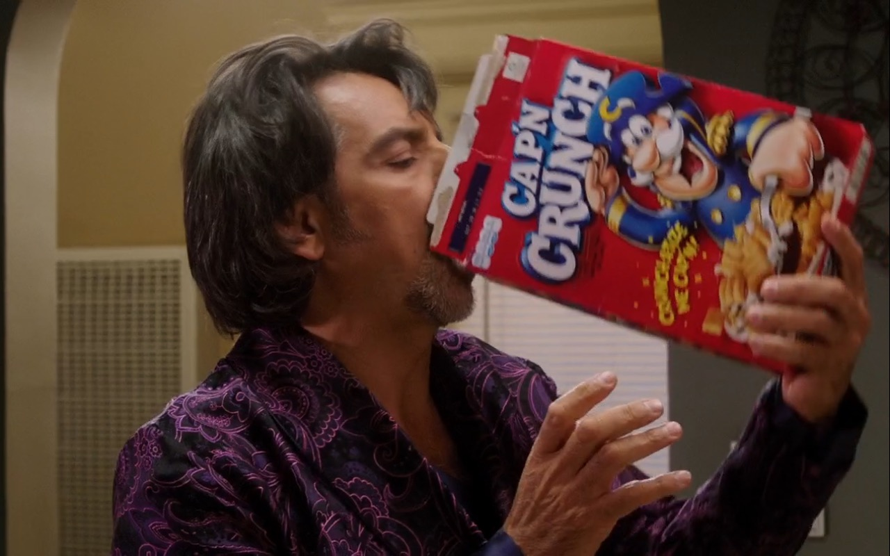 Cap'n Crunch Breakfast Cereal - How to Be a Latin Lover (2017) Movie Product Placement