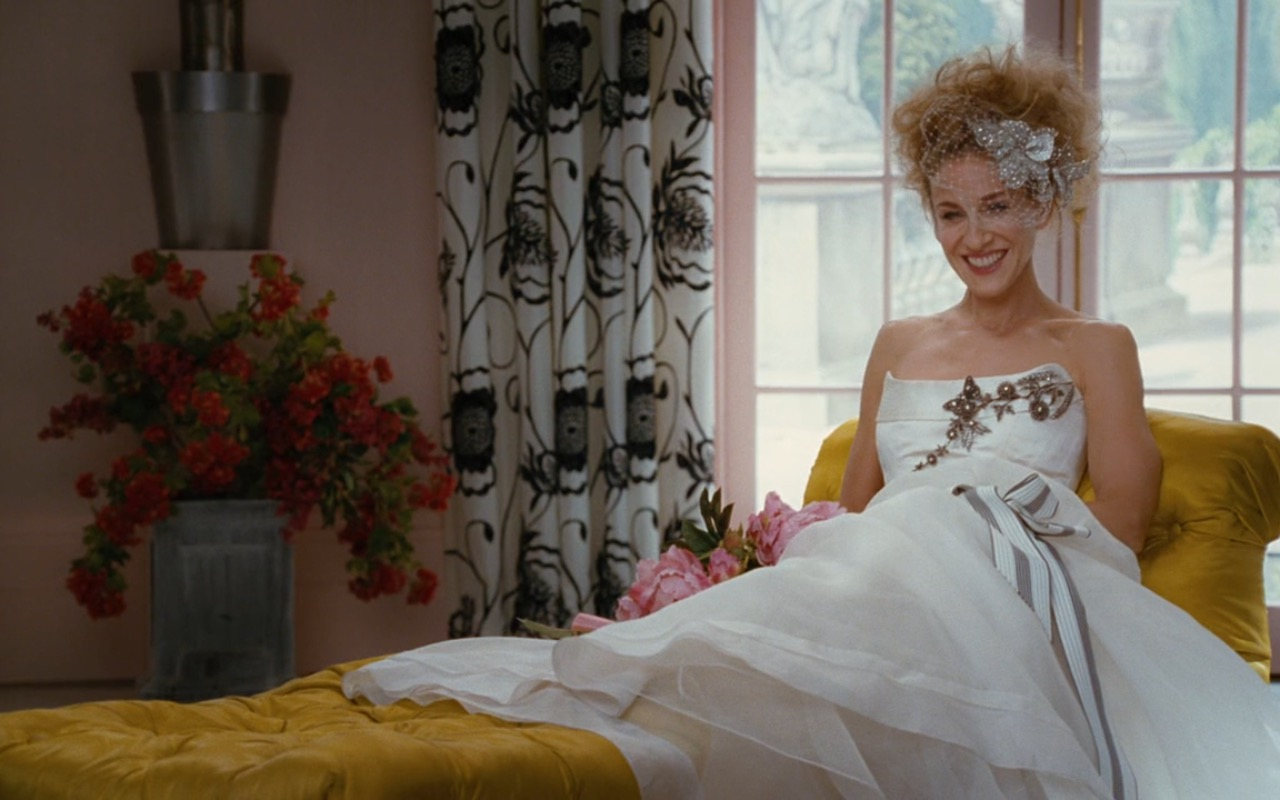 Carolina Herrera Wedding Dress - Sex and the City (2008) Movie Product Placement
