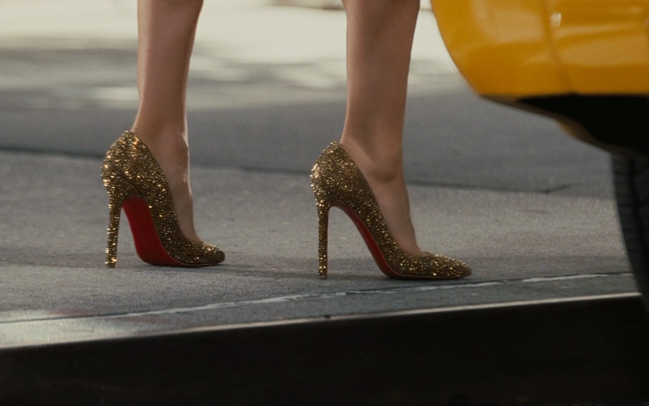Christian Louboutin Gold Pumps – Sex and the City 2 (2010) Movie Product Placement