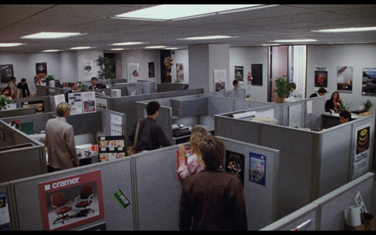 Cramer Chairs Seating For Workspaces (Poster) – Nothing in Common (1986) Movie Product Placement