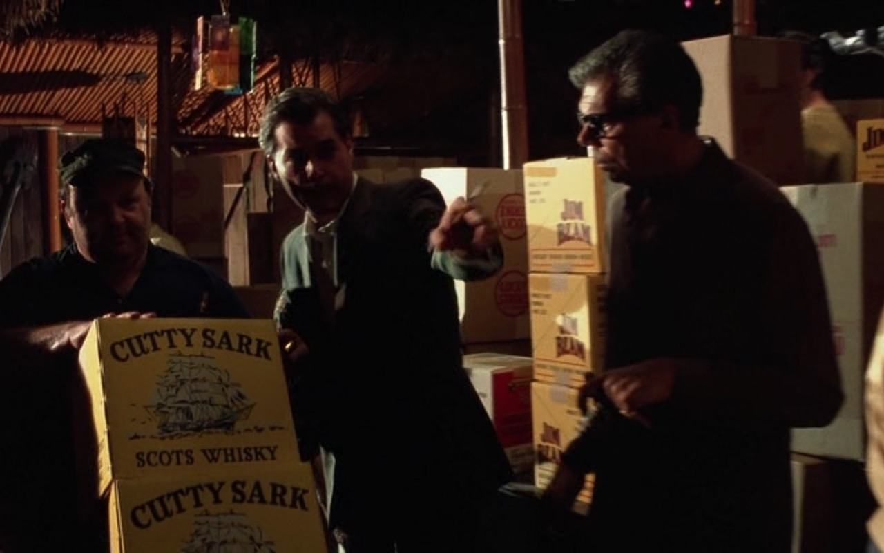 Cutty Sark Whisky, Jim Beam Bourbon & Lucky Strike Cigarettes – Goodfellas (1990) Movie Product Placement