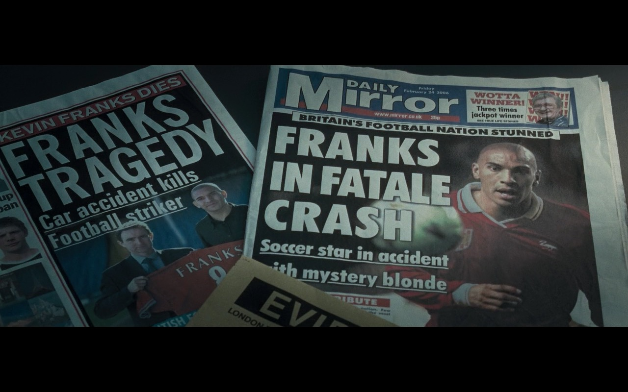 Daily Mirror Newspaper - Basic Instinct 2 (2006) Movie Product Placement