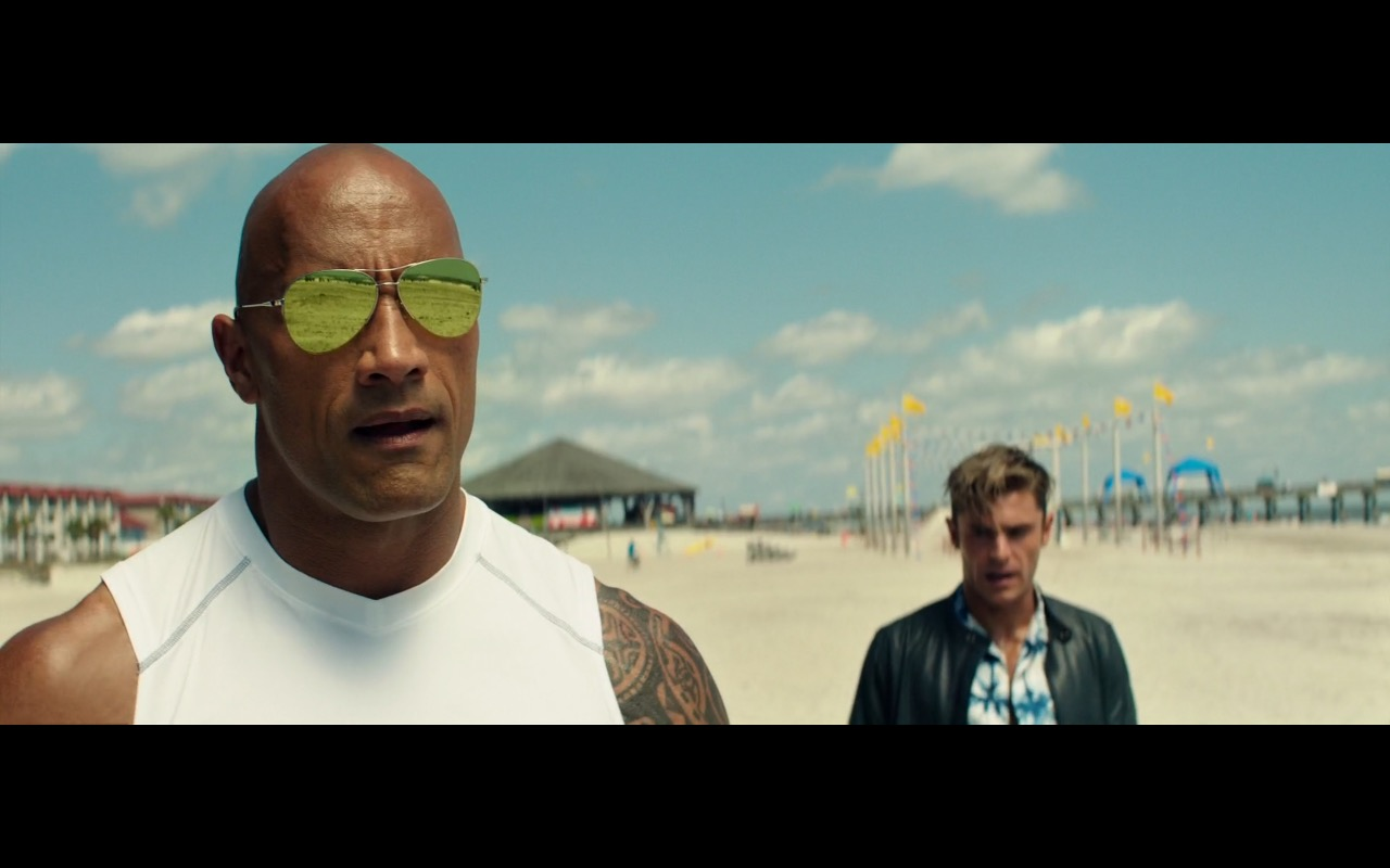 Dwayne Johnson and Ray-Ban Sunglasses – Baywatch (2017) Movie Product Placement