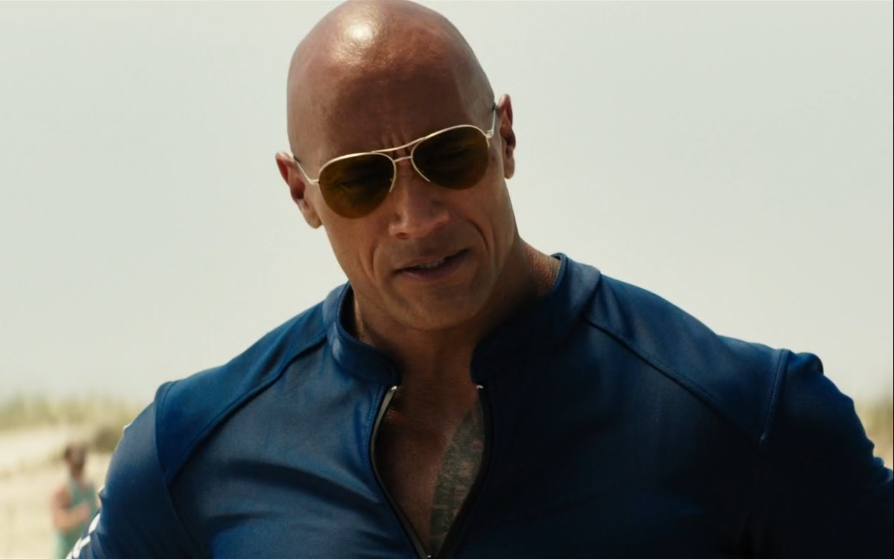 Dwayne Johnson And Ray Ban Sunglasses Baywatch 2017 Movie