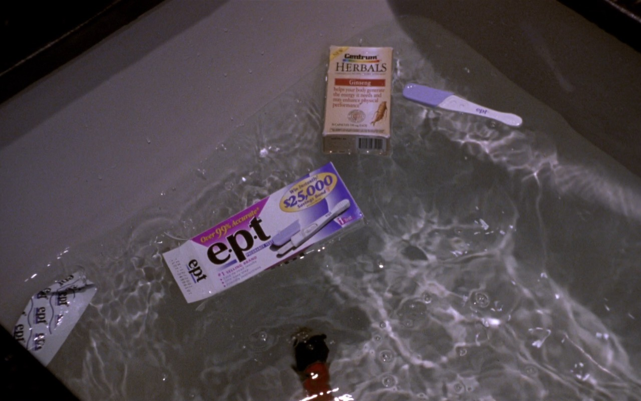 EPT Pregnancy Test and Centrum Herbals Multivitamins – What Women Want (2000) Movie Product Placement