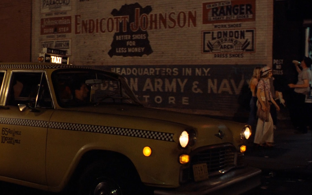 Endicott Johnson – Taxi Driver (1976) Movie Product Placement
