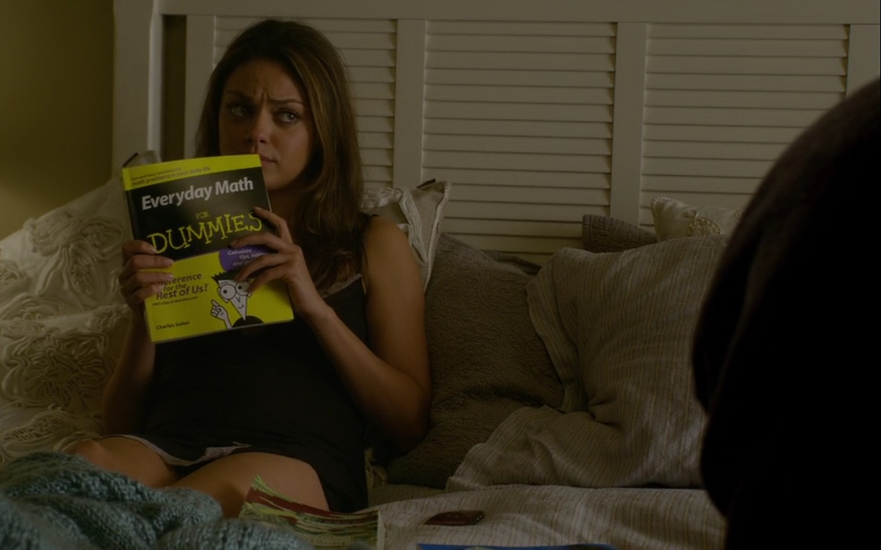 Everyday Math For Dummies (Book) - Friends with Benefits (2011) Movie Product Placement