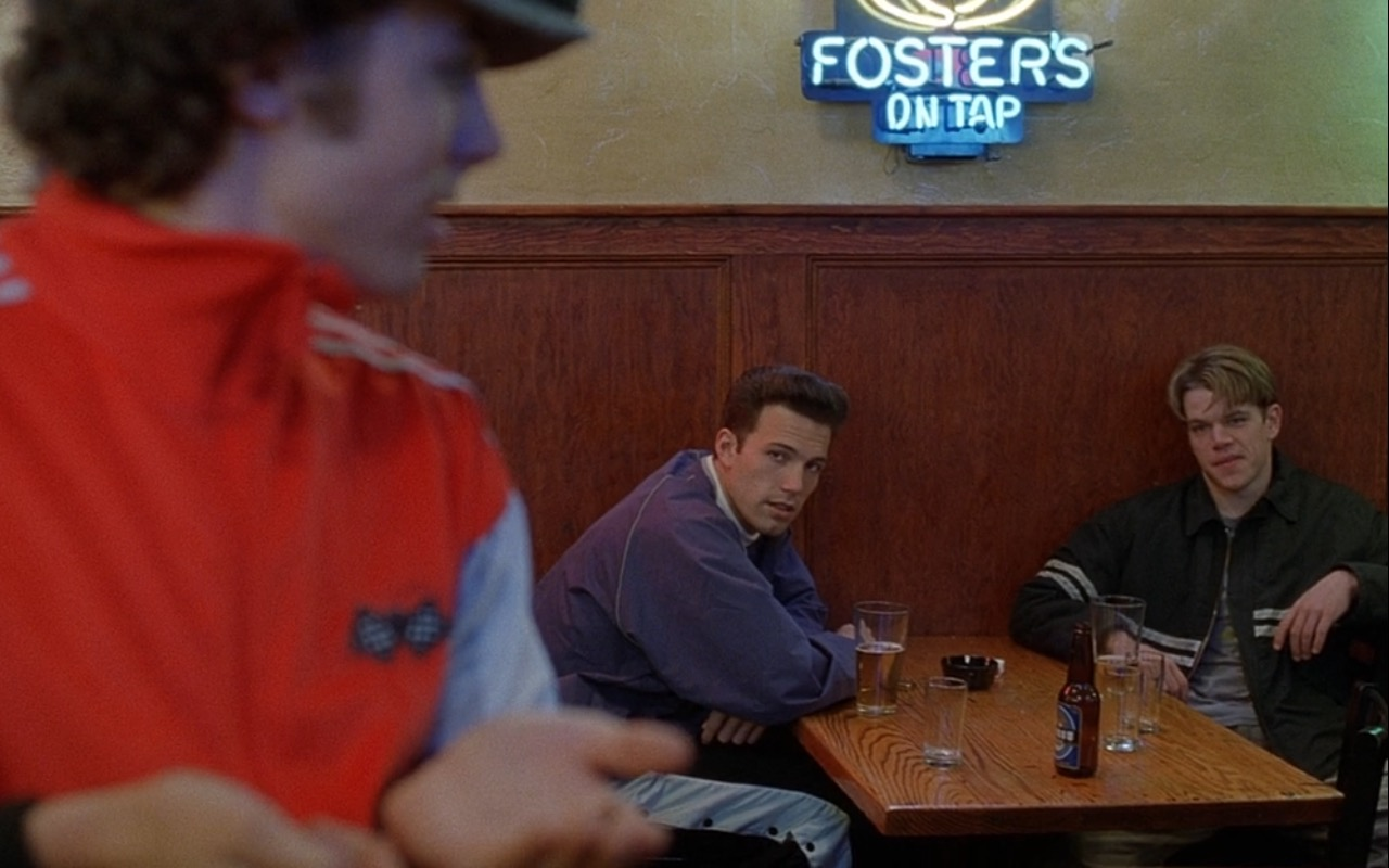 Foster's Beer Neon Sign - Good Will Hunting (1997) Movie Product Placement