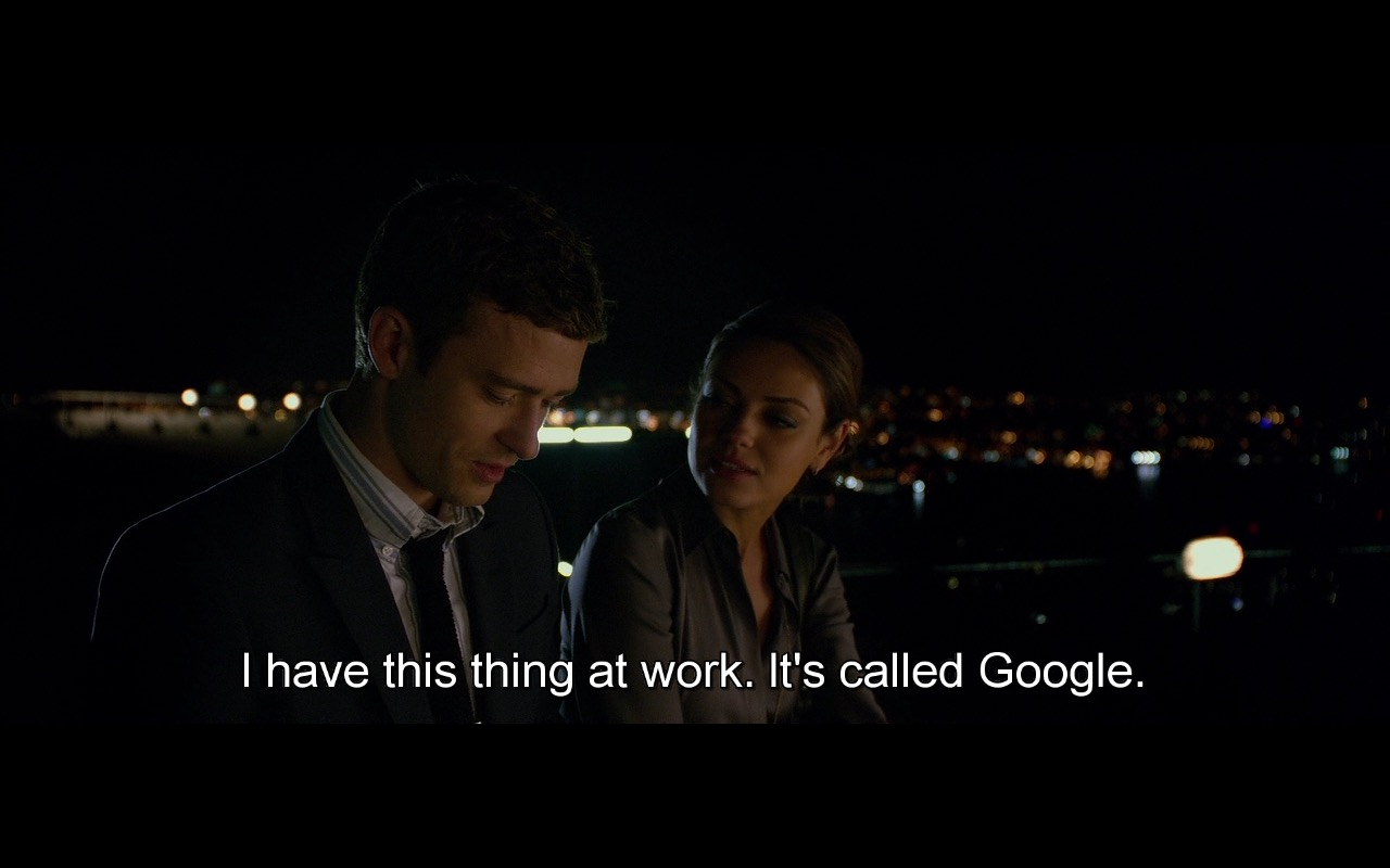 Google Search - Friends with Benefits (2011) Movie Product Placement