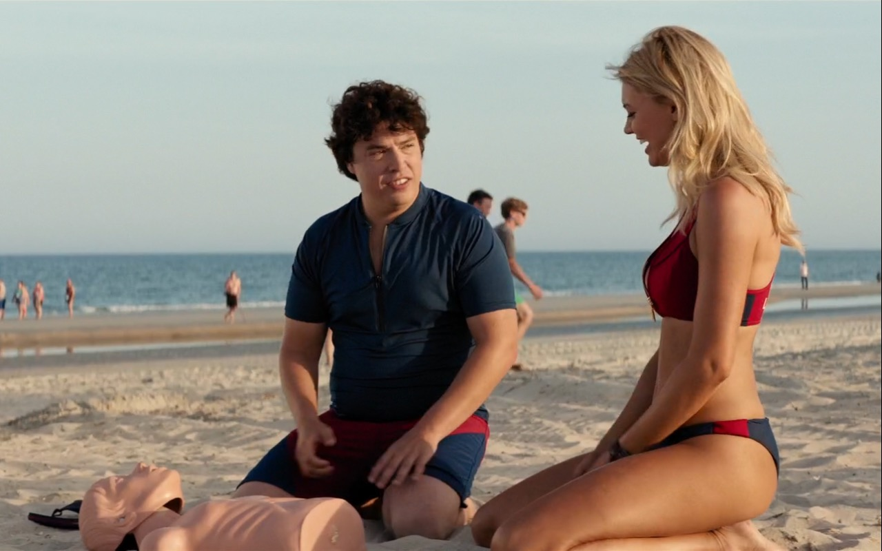 Under Armour Shirt and Shorts Worn by Jon Bass in Baywatch (2017) - Movie Product Placement