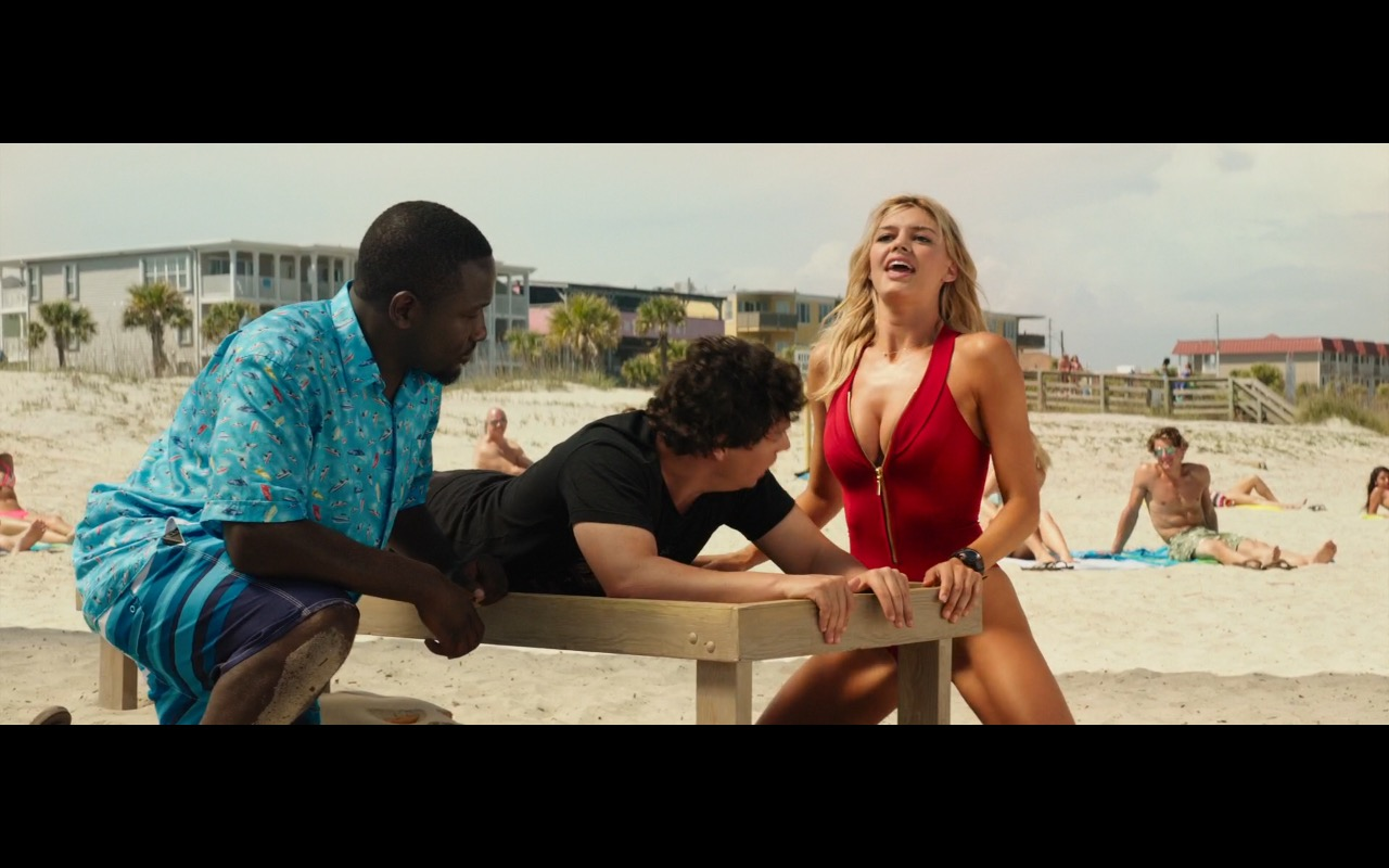 Under Armour Swimwear Worn by Kelly Rohrbach in Baywatch (2017) Movie Product Placement