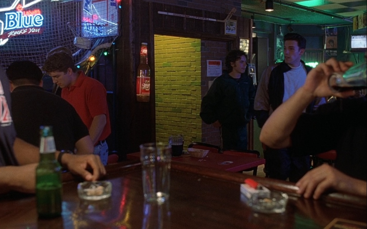 Labatt Blue and Miller Beer Signs – Good Will Hunting (1997) Movie Product Placement