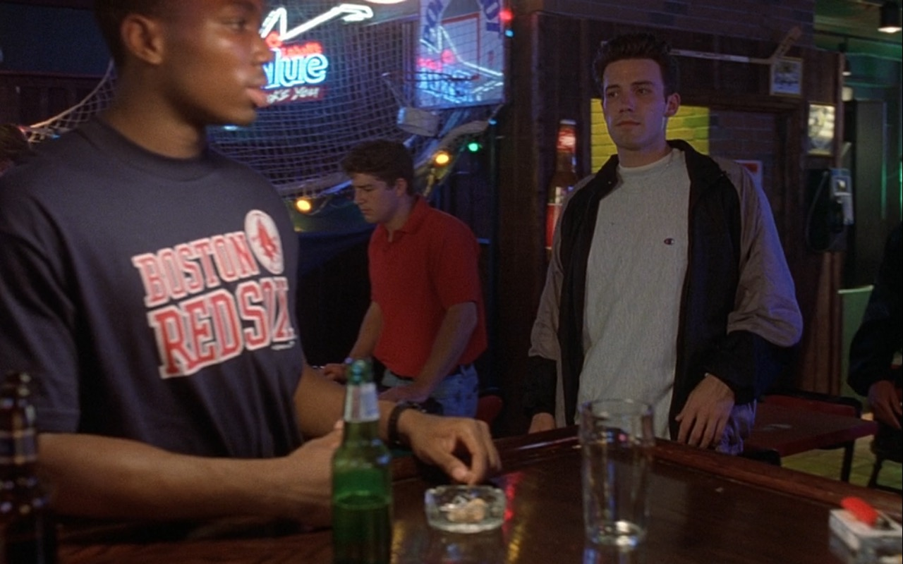Labatt Blue, Boston Red Sox and Champion – Good Will Hunting (1997) Movie Product Placement