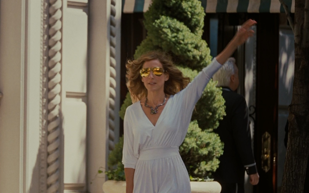 Mykita x Bernhard Willhelm Gold Sunglasses – Sex and the City 2 (2010) Movie Product Placement