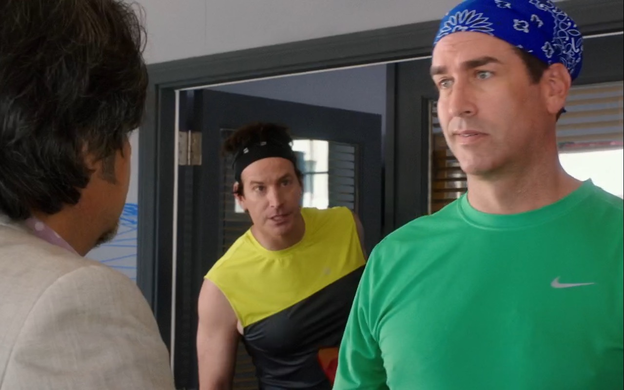 Nike Men's Green T-Shirt - How to Be a Latin Lover (2017) Movie Product Placement