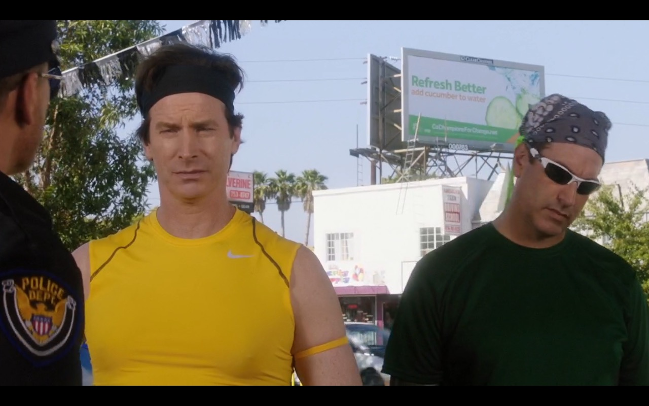 Nike Men's Yellow T-Shirt - How to Be a Latin Lover (2017) - Movie Product Placement