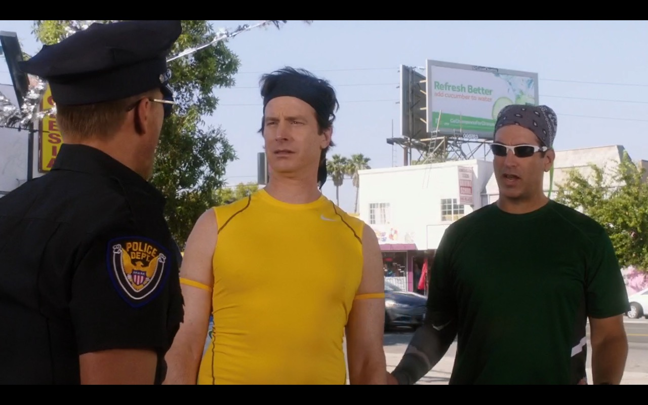 Nike Men's Yellow T-Shirt - How to Be a Latin Lover (2017) Movie Product Placement