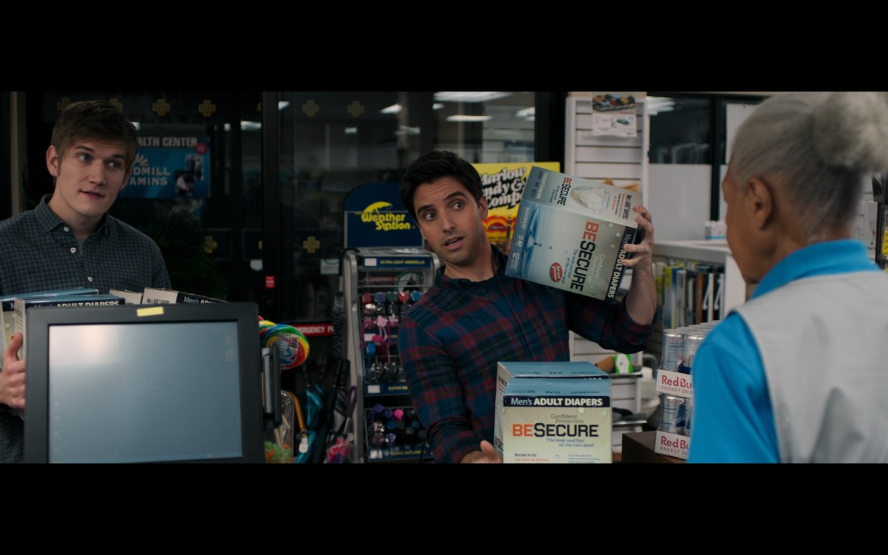 POS-X, Windmill Vitamins, The Weather Station Umbrellas, Marlow Candy and Nut Company, Red Bull - Rough Night (2017) - Movie Product Placement