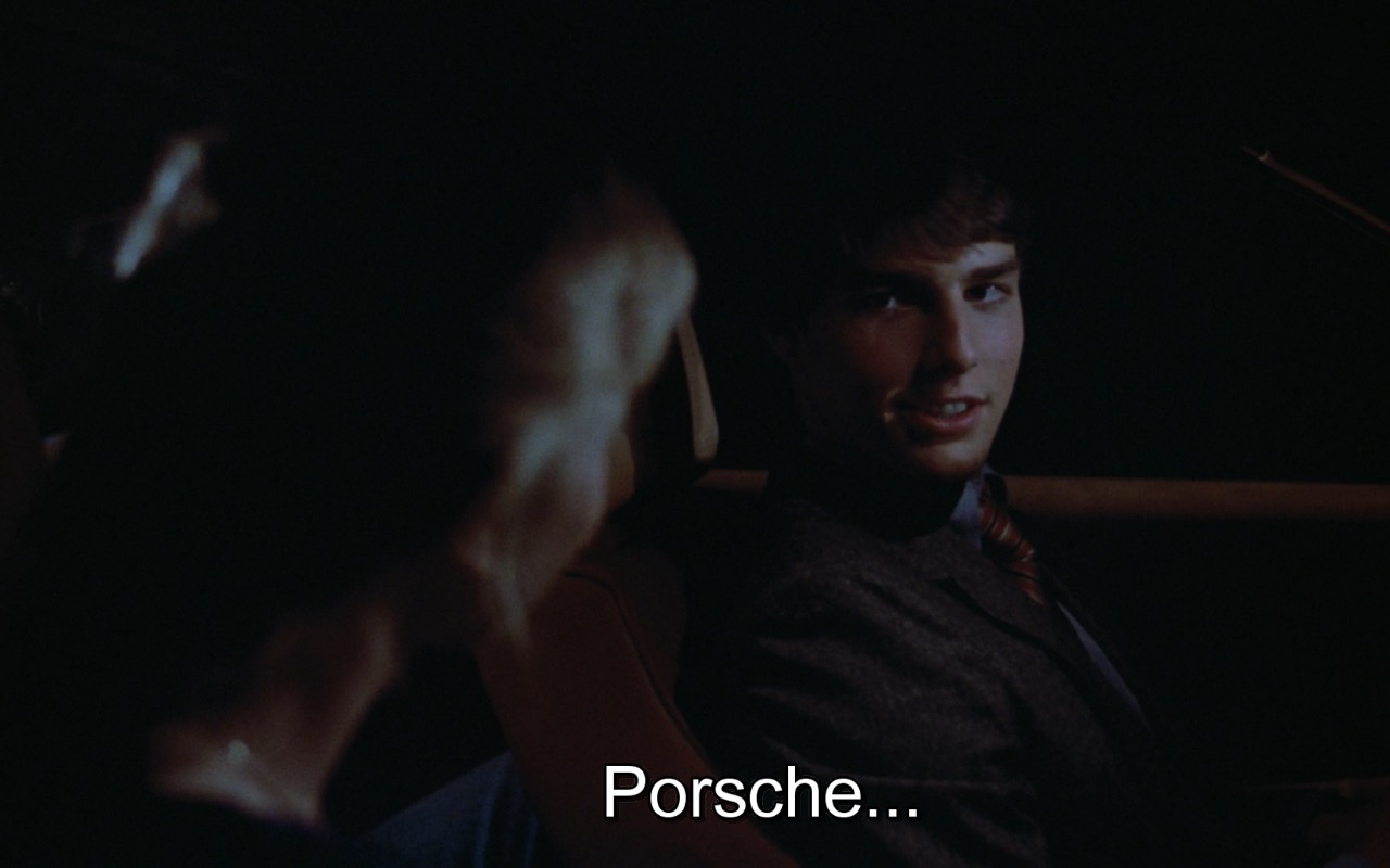 Porsche Quote by Tom Cruise – Risky Business (1983) Movie Product Placement