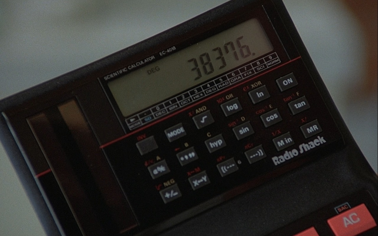 Radio Shack Electronic Calculator – Rain Man (1988) Movie Product Placement