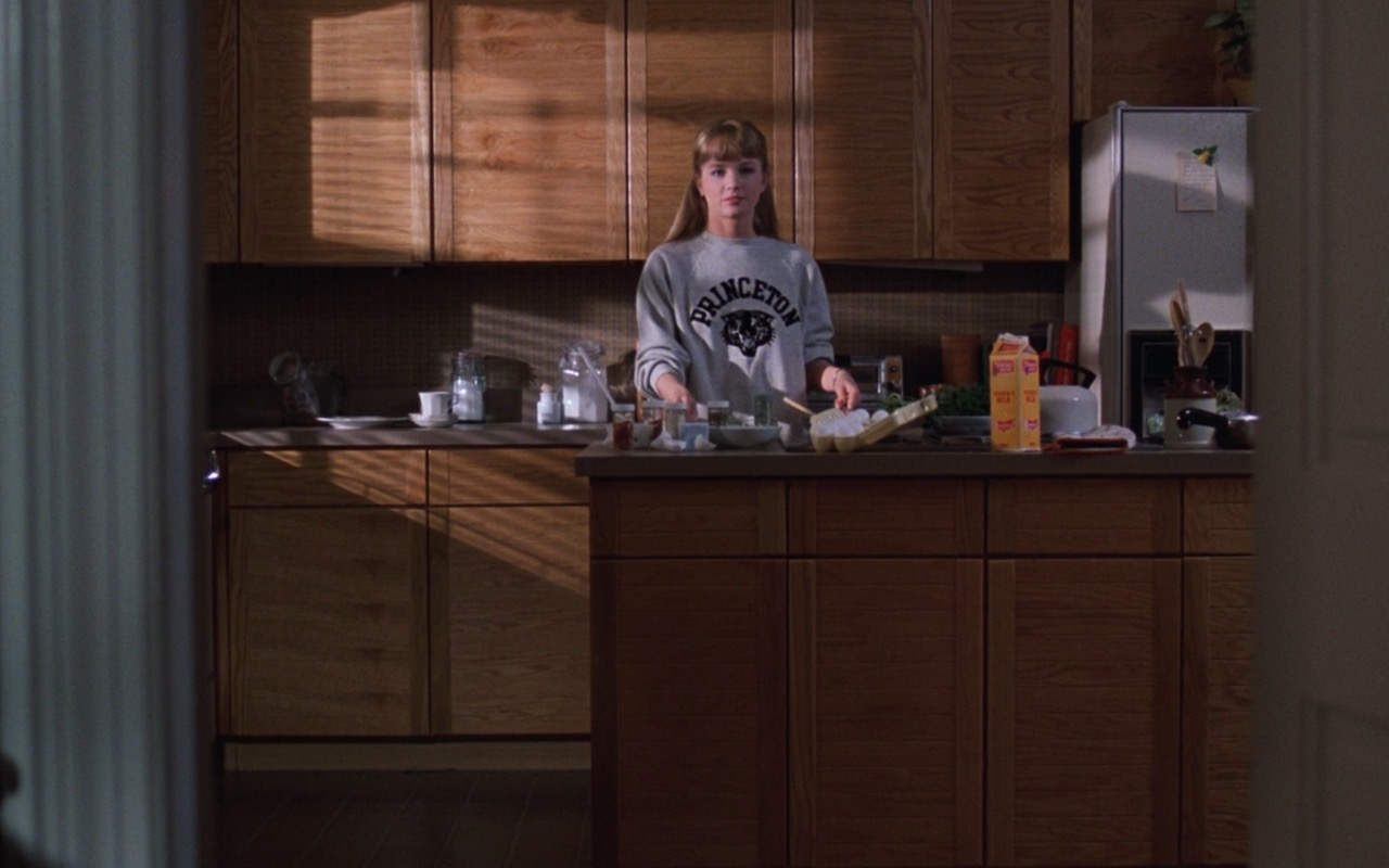 Rebecca De Mornay and Princeton University Sweatshirt – Risky Business (1983) Movie Product Placement