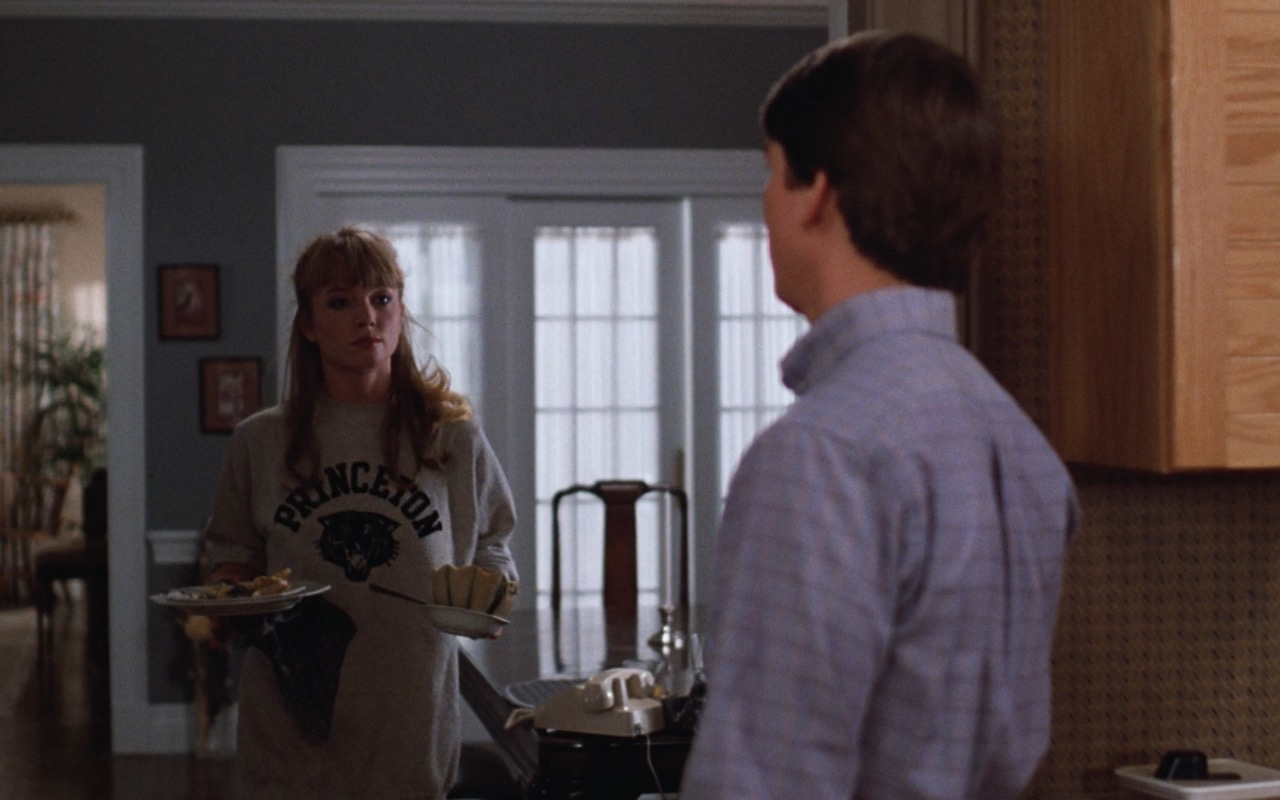 Rebecca De Mornay and Princeton University Sweatshirt – Risky Business (1983) - Movie Product Placement
