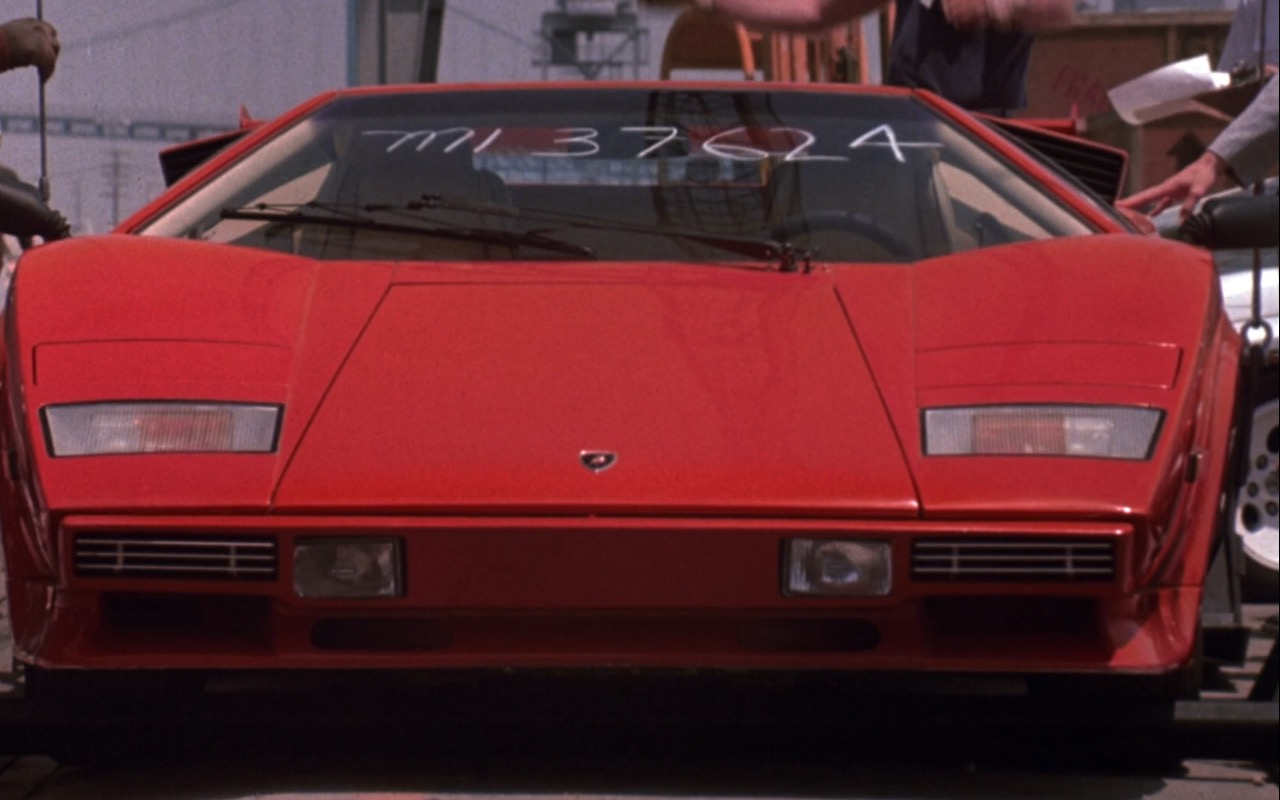 Red Lamborghini Countach – Rain Man (1988) Movie Product Placement