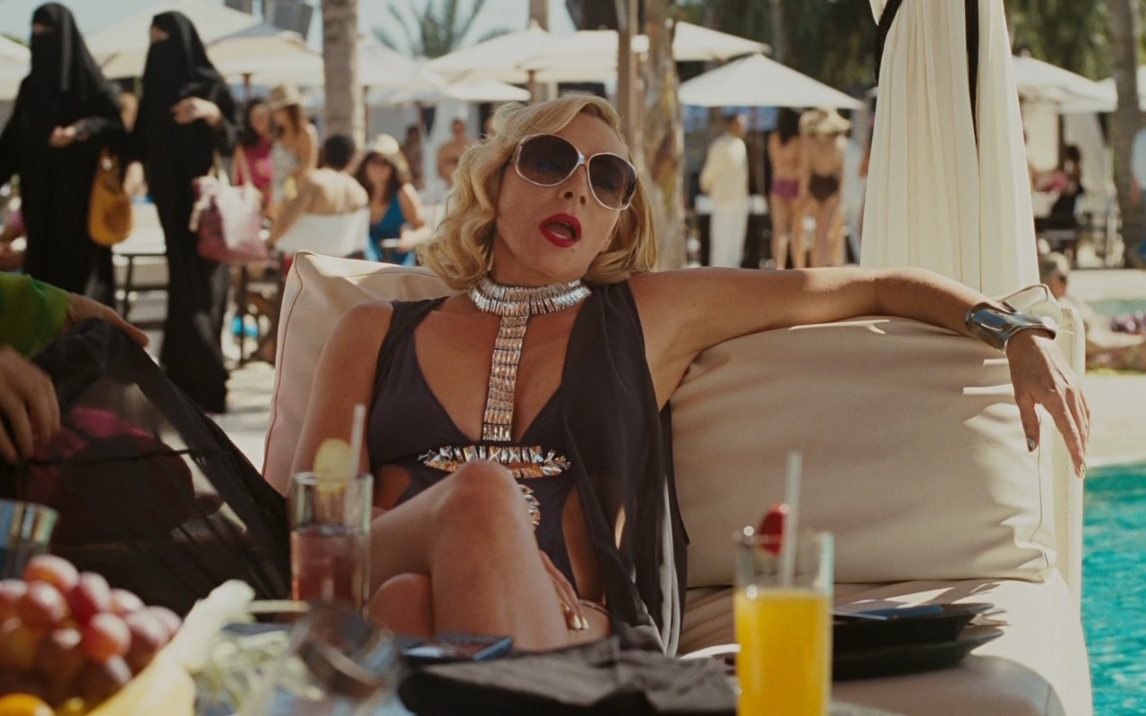 Roberto Cavalli Sunglasses And Ivana Sert Swimsuit - Sex and the City 2 (2010) Movie Product Placement