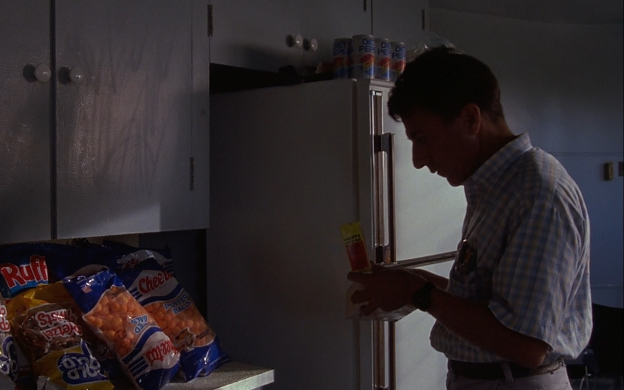 Ruffles Chips, Rold Gold, Cheetos, Mott's, Diet Pepsi – Rain Man (1988) - Movie Product Placement