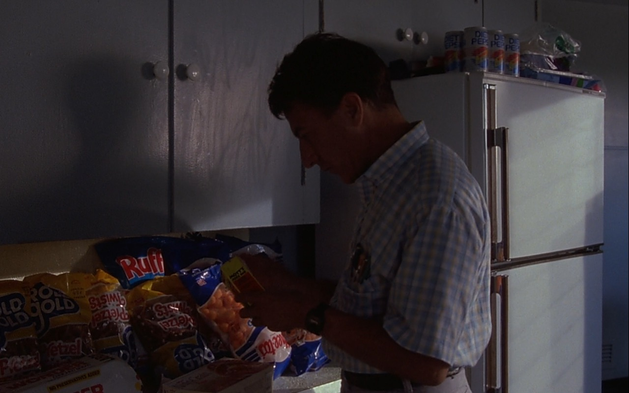 Ruffles Chips, Rold Gold, Cheetos, Mott's, Diet Pepsi – Rain Man (1988) Movie Product Placement