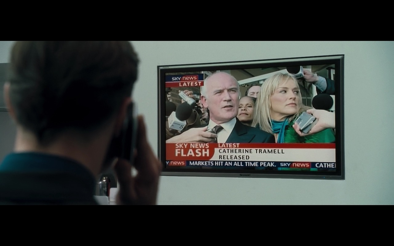 SKY TV Channel (Sky News) And Sharp TV - Basic Instinct 2 (2006) Movie Product Placement